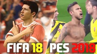 FIFA 18 VS PES 2018 | GOALS & CELEBRATIONS!