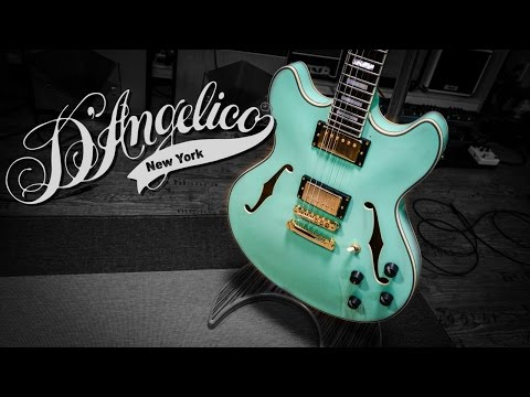D'Angelico EX-DC Hollowbody Guitar - Green Goodness