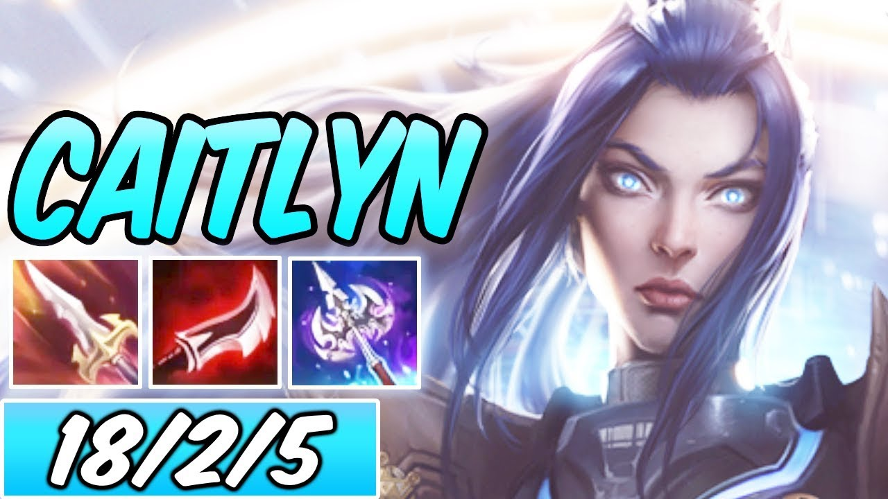 S Caitlyn Mid Full Burst Lethality Dark Harvest New Build Runes Pulsefire Caitlyn Season 10 Youtube