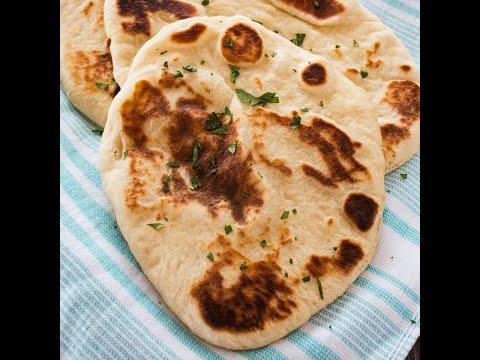 Indian Naan Bread Recipe - Easy, Pan-Fried Flatbread