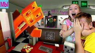 Как Майнкрафт 5 ночей Хэллоуин Пиццерия ФНАФ Эпик Фэйл Семья играет Minecraft Halloween