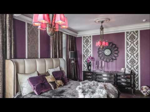 Фиолетовые обои: фото-примеры в интерьере