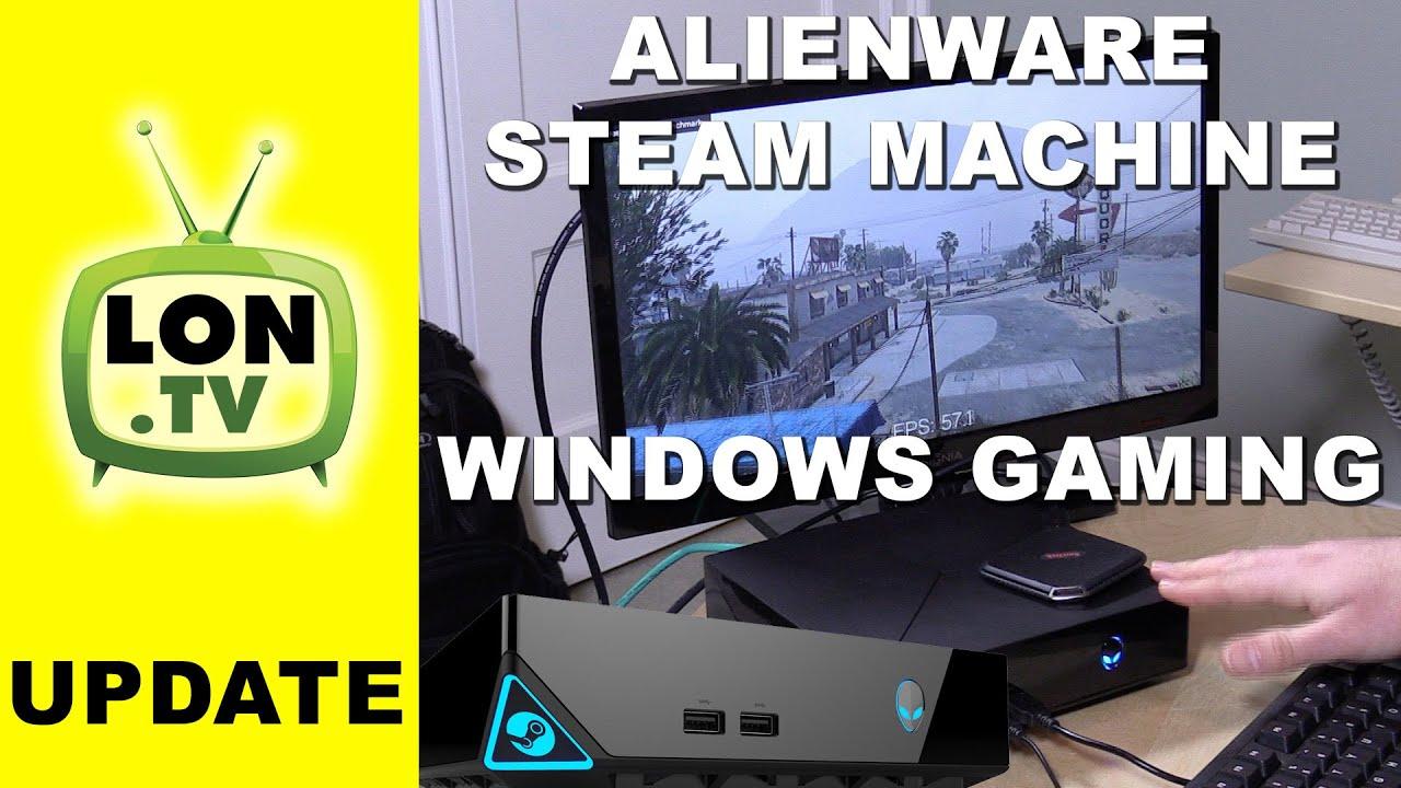 Running Windows Games on the Alienware Steam Machine - GTA V , 3DMark  Benchmark
