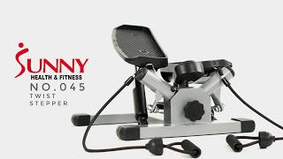 No. O45 Twist Stepper with Bands by Sunny Health and Fitness