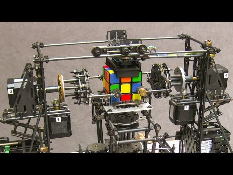 Rubik Cube Solver Built Using FAC Building System And Raspberry Pi (video)