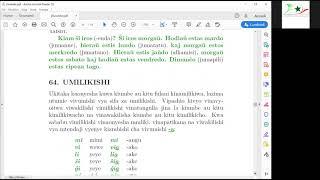 Kurso de Esperanto per la svahila de prof. Nino Vessella (parto 6/6)