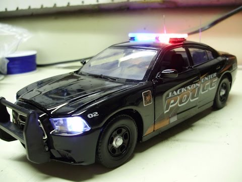 Custom Jackson Center Police Department Dodge Charger Pursuit w/ working lights & siren