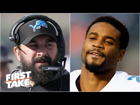 Reacting to Darius Slay saying he lost all respect for Lions coach Matt Patricia | First Take