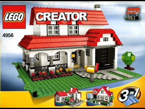 Lego creator house 4956 1 number 2 complete building for Build a house online free