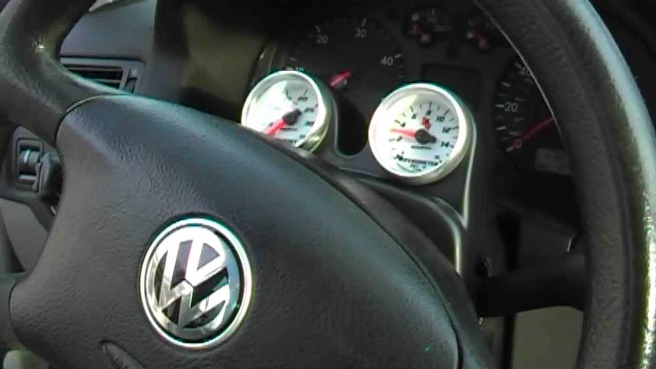 volkswagen tdi boost egt guages youtube