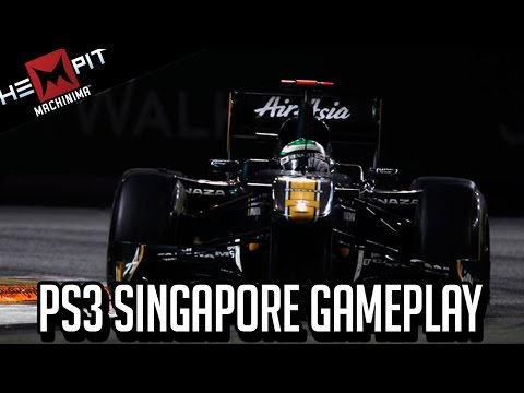 Formula 1 PS3 Singapore Grand Prix Lotus Cockpit
