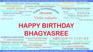 Bhagyasree   Languages Idiomas - Happy Birthday