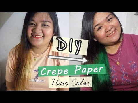 Diy Hair Color Using Crepe Paper Temporary Hair Color Sharleen