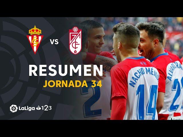 Resumen de Real Sporting vs Granada CF (1-0)