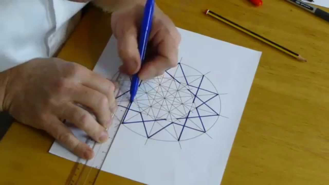 How to draw an islamic geometric pattern ayyubid star for How do you make a blueprint