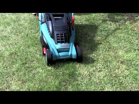bosch rotak 34 lawnmower youtube. Black Bedroom Furniture Sets. Home Design Ideas