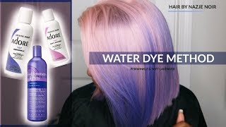 TRYING THE WATER DYE METHOD FOR THE FIRST TIME !!! EASIEST WAY TO DYE HAIR PASTEL??