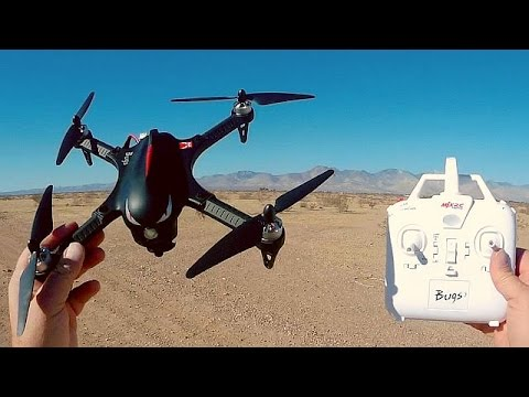 MJX RC Bugs 3 Brushless Sport Drone Flight Test Review