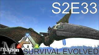 ARK: Survival Evolved - Quetzalcoatlus taming with Monkeyfarm! S2E33 Gameplay