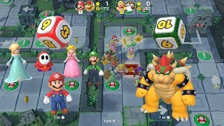 Super Mario Party Partner Party #102 Domino Ruins Treasure Hunt Mario & Bowser vs Wario & Monty Mole