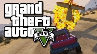 GTA 5 Online Stunts - Plane Jumping! (GTA V Fails and Funny Moments!) KYR SP33DY