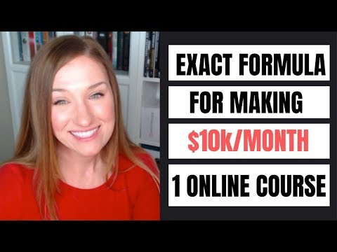 My EXACT FORMULA for making $10k per month with 1 online course