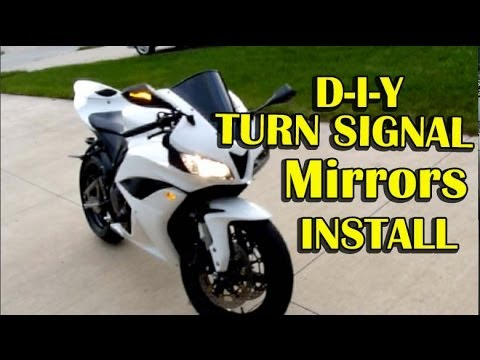 Honda CBR600rr Mirrors with Turn Signals Installation Step by Step Instructions  YouTube