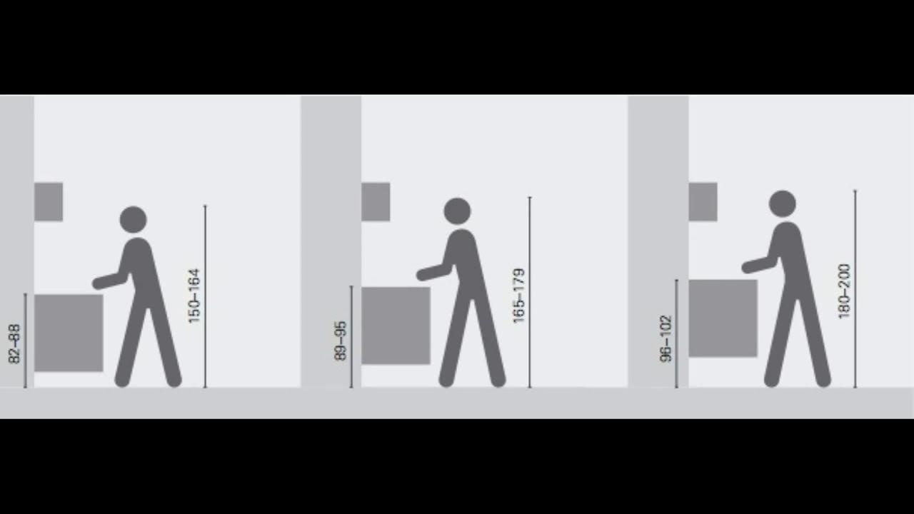Hauteur meuble haut cuisine rapport plan travail youtube - Hauteur plan de travail cuisine standard ...