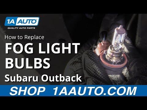 How to Replace Fog Light Bulbs 10-14 Subaru Outback