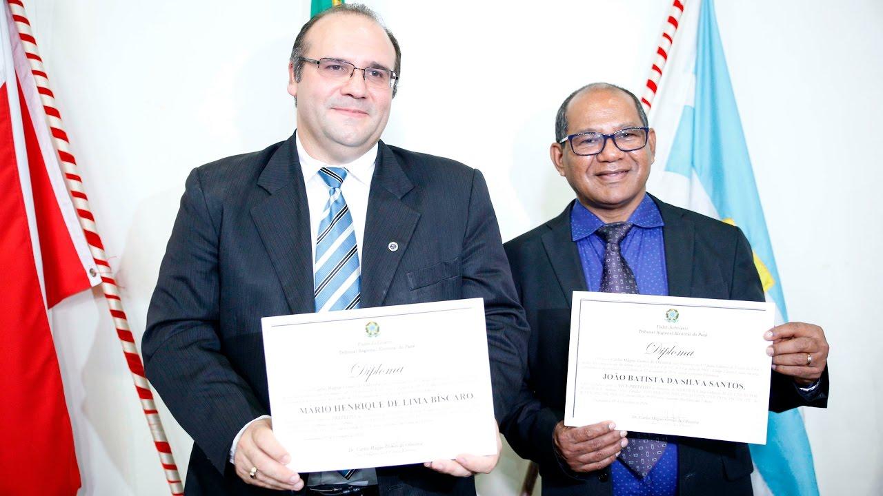 Prefeito de Marituba Mário Filho e o vice prefeito João Batista ...