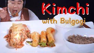 ASMR Kimchi with Bulgogi, Kore…