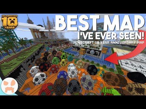 Minecraft - огромная карта ко дню рождения