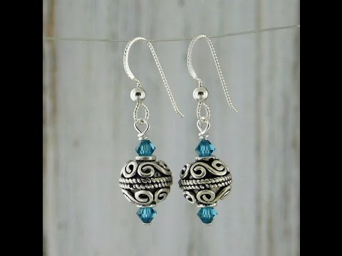 Basic Wrapped Wire Loop Bead Earrings