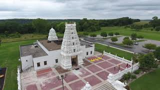 Drone Hindu Temple At Marid Iowa, DJI Phantom 4 Drone Video 4K