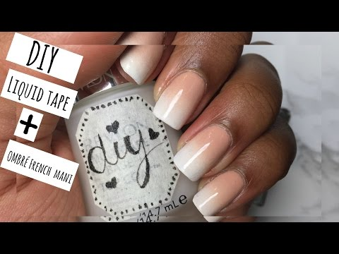 Nail Art Ombre French Manicure
