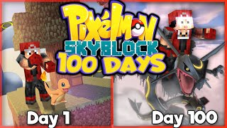I SPENT 100 DAYS IN PIXELMON SKYBLOCK... Here's What Happened!