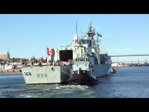 Naval Ship In the Harbour, Halifax, N.S.