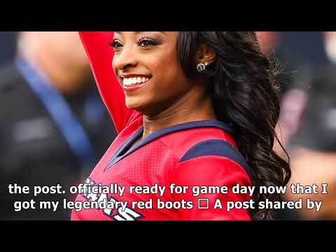 Simone biles showed off her cheerleading chops at a houston texans game