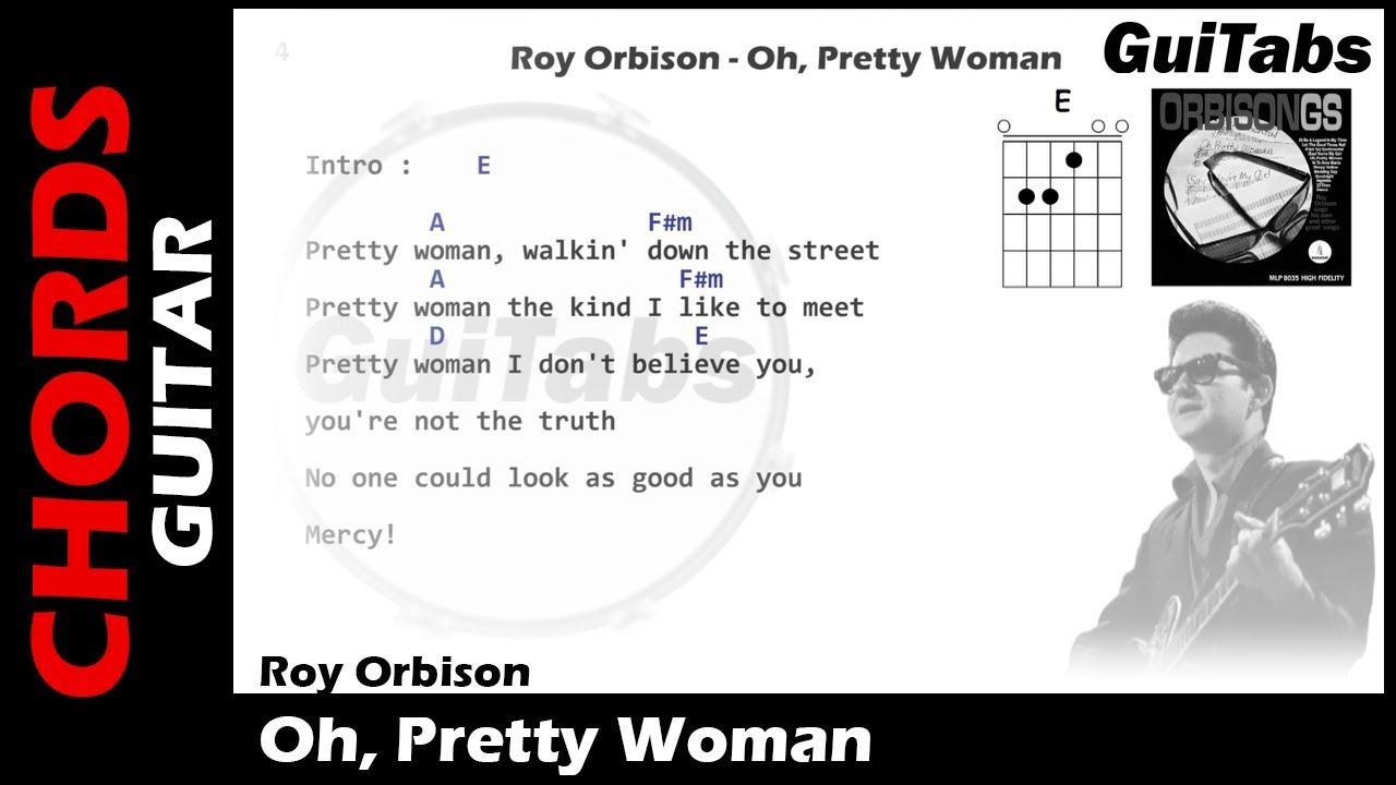 OH, PRETTY WOMAN 😎   Roy Orbison  Lyrics   GUITAR Chords 🎸  Karaoke