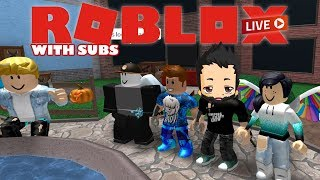 Subs and viewers join the fun! | Roblox Live Stream