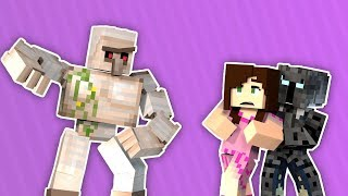 PopularMMOS LUCKY BLOCKS MOD GOLEM - Funny Moments Animated