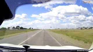 Проезд села Новонежинка Кустанайской области