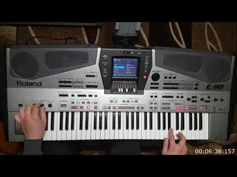 Roland e80 - демонстрація весільних стилів.