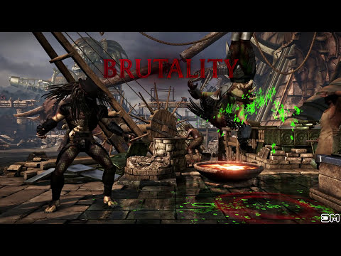 Mortal Kombat XL Predator Skinned Alive Brutality on All Characters