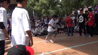 B-BOY PARK 2013 U20 Crew Battle 予選 九州男児Jr vs UP ROCK CREW