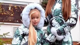 Зимний комбинезон мама и дочка Сумка и рукавички в комплекте Modnica Shop