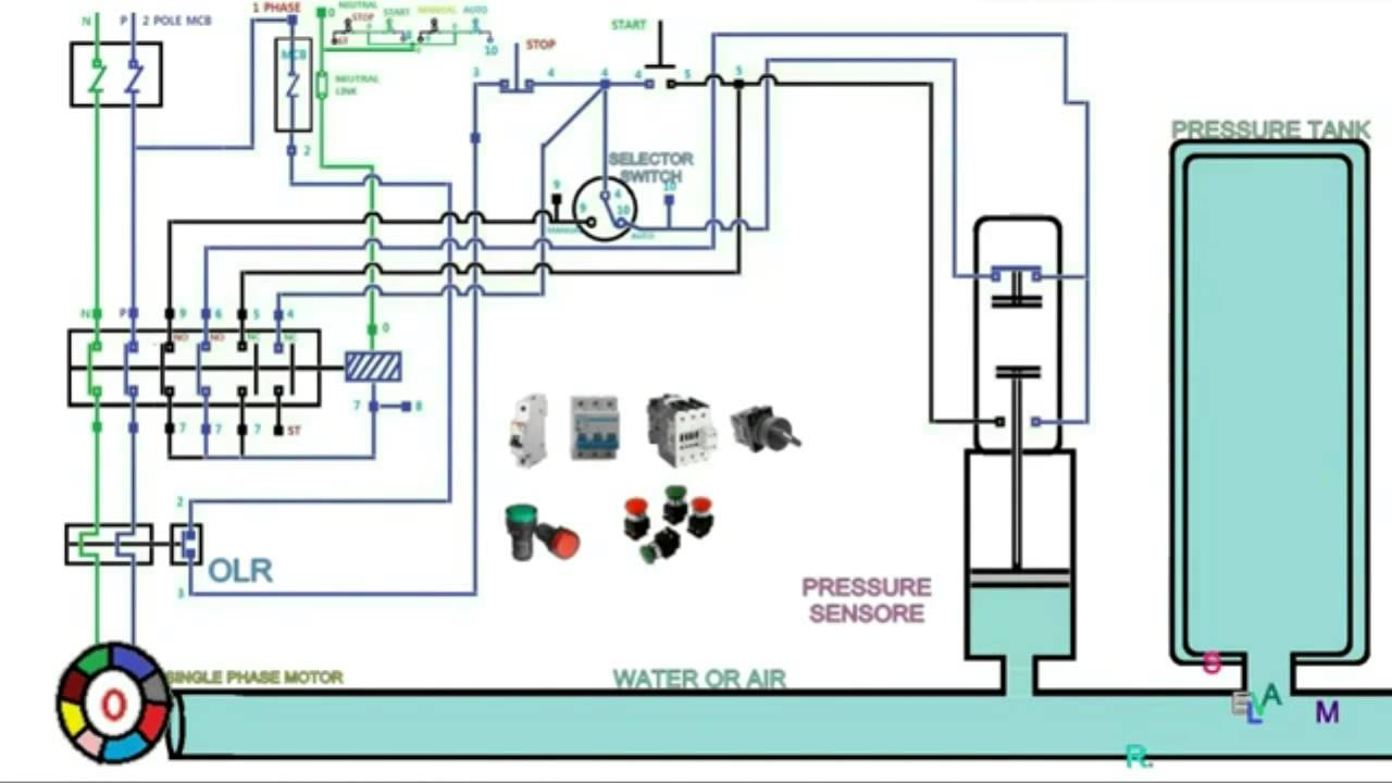 Automatic Pressure Control Starter Control Wiring And