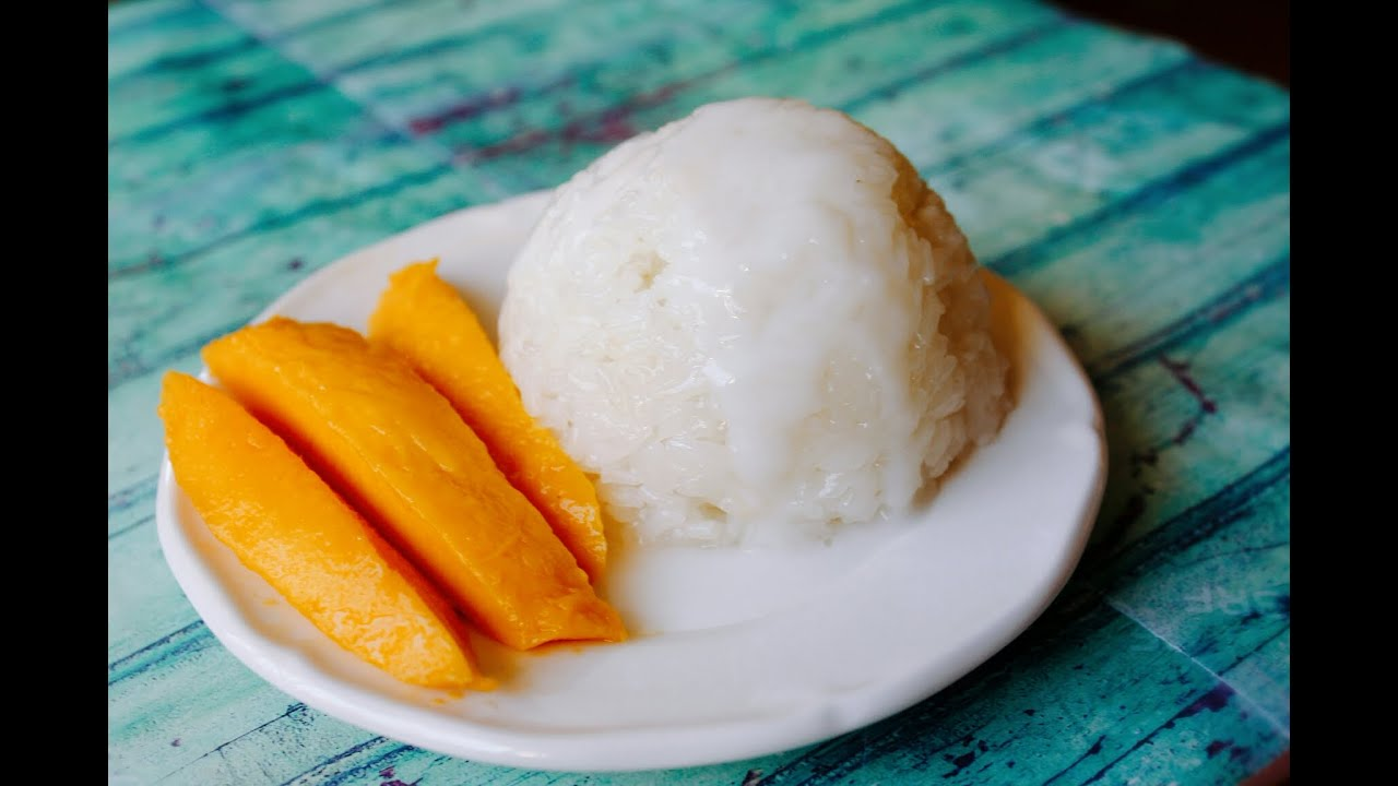 How To Make Thai Mango Sticky Rice Youtube