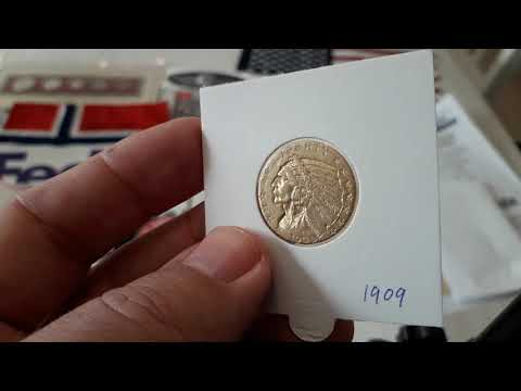 Gold 5 Dollars 1909 Indian Head