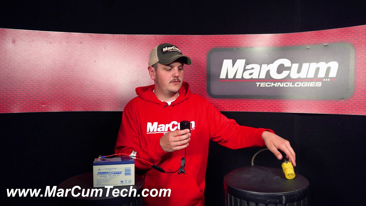 MarCum Sonar and Underwater camera battery charger troubleshooter